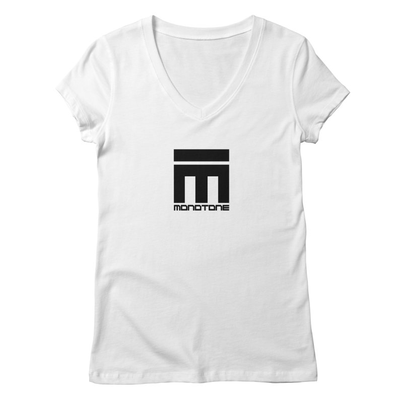 Monotone Logo  Women's V-Neck by Monotone Apparel