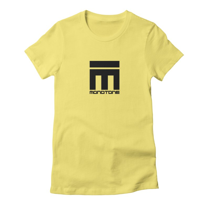 Monotone Logo  Women's Fitted T-Shirt by Monotone Apparel