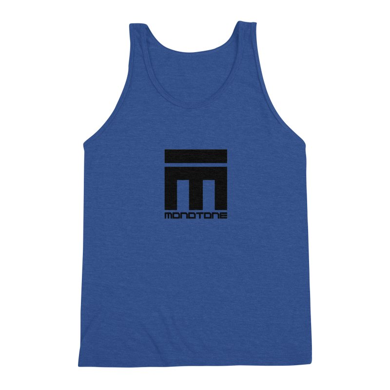 Monotone Logo  Men's Triblend Tank by Monotone Apparel