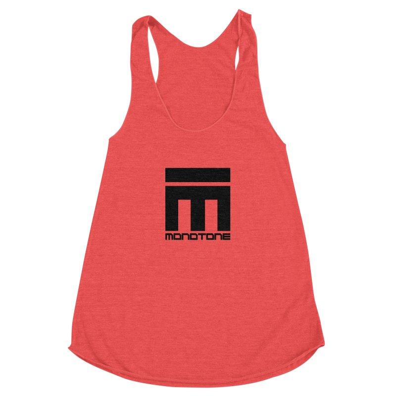 Monotone Logo  Women's Racerback Triblend Tank by Monotone Apparel