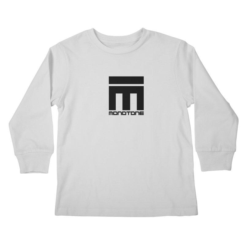 Monotone Logo  Kids Longsleeve T-Shirt by Monotone Apparel