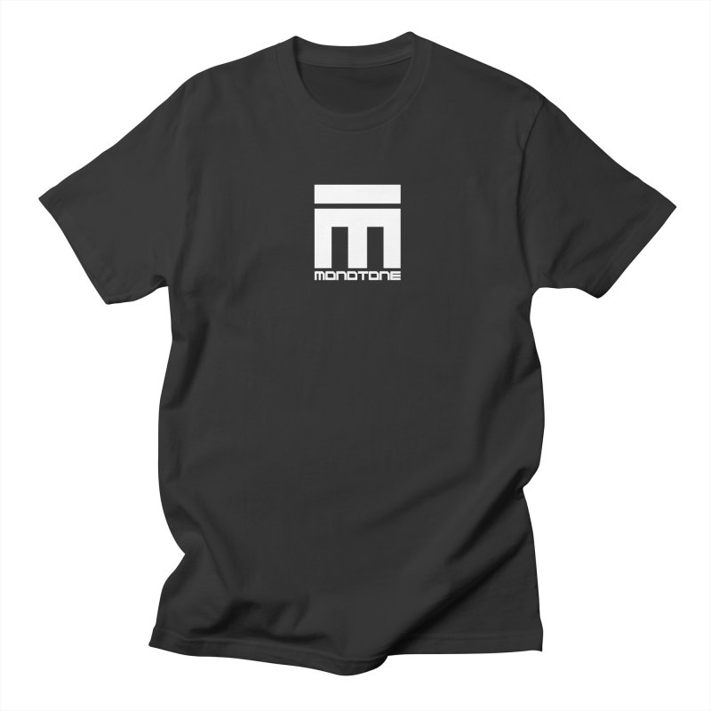 Monotone Logo White Men's Regular T-Shirt by Monotone Apparel