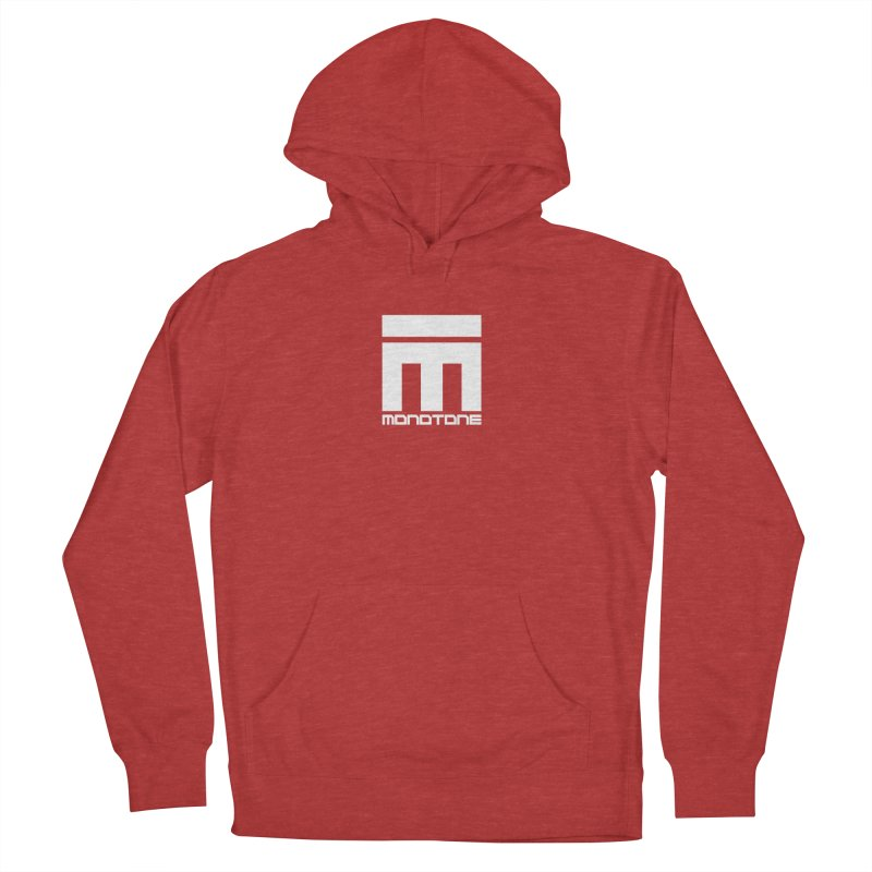 Monotone Logo White Men's Pullover Hoody by Monotone Apparel