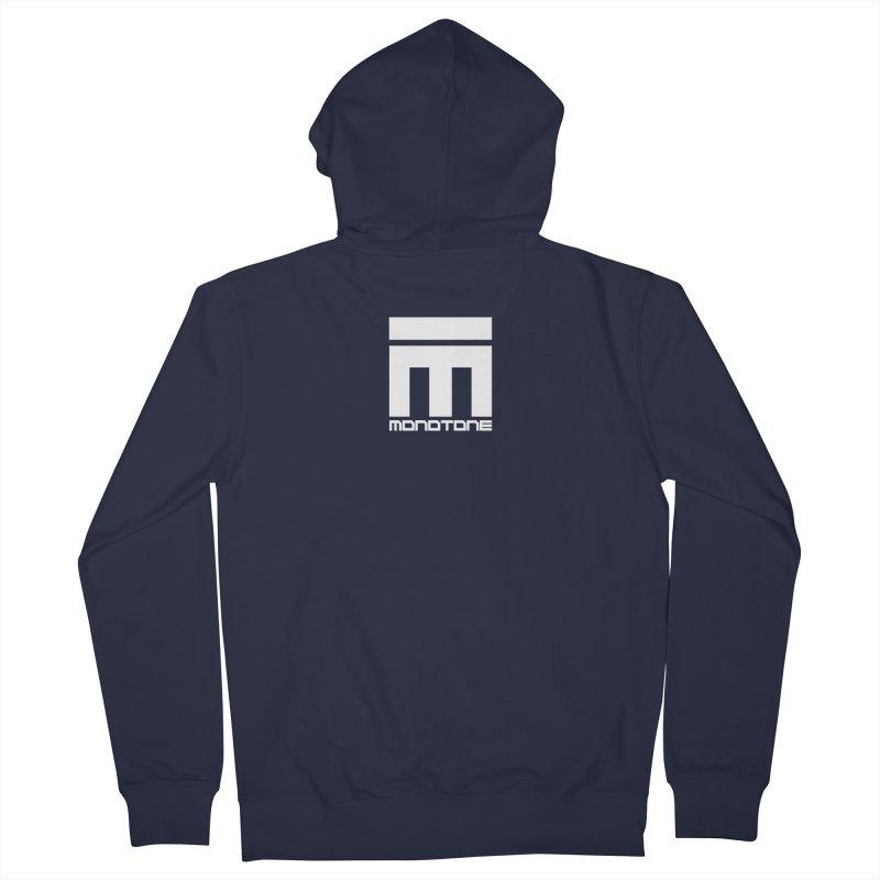 Monotone Logo White Men's Zip-Up Hoody by Monotone Apparel