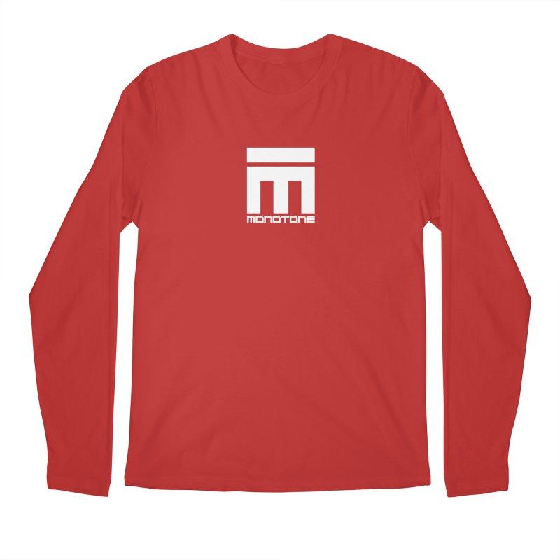 Monotone Logo White Men's Longsleeve T-Shirt by Monotone Apparel