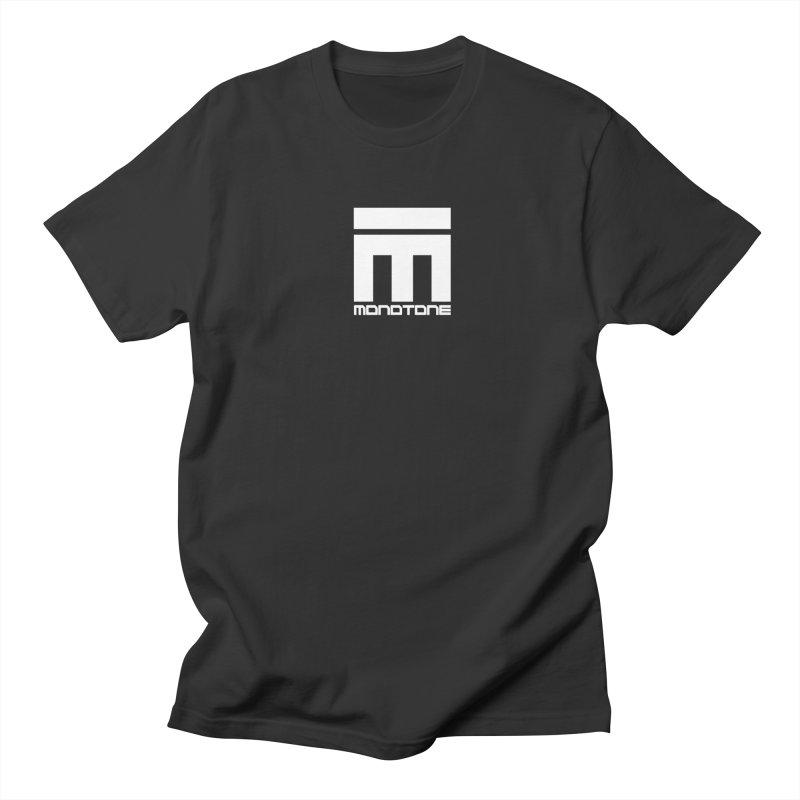 Monotone Logo White Men's Regular T-Shirt by Monotone Apparel