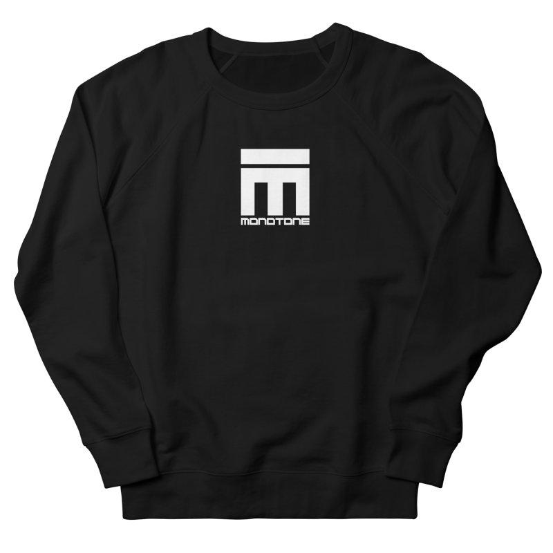 Monotone Logo White Women's Sweatshirt by Monotone Apparel