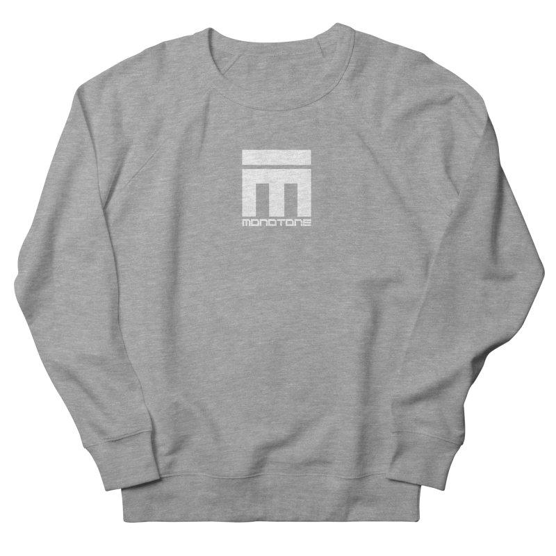 Monotone Logo White Men's Sweatshirt by Monotone Apparel