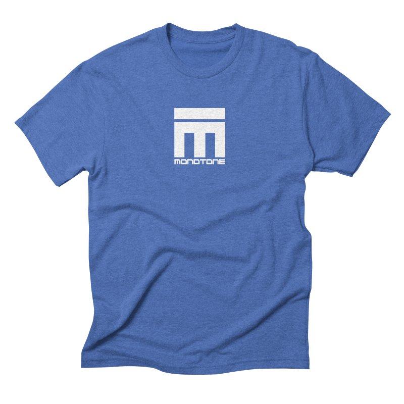 Monotone Logo White Men's T-Shirt by Monotone Apparel