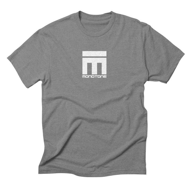 Monotone Logo White Men's Triblend T-Shirt by Monotone Apparel