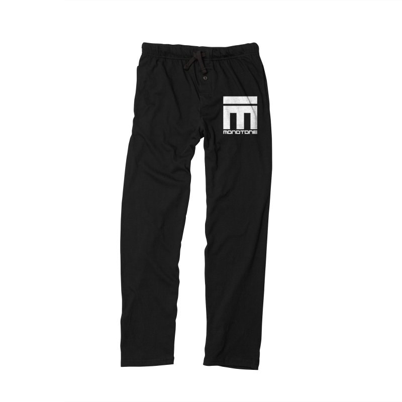 Monotone Logo White Men's Lounge Pants by Monotone Apparel
