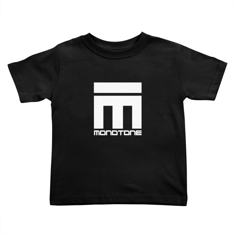 Monotone Logo White Kids Toddler T-Shirt by Monotone Apparel