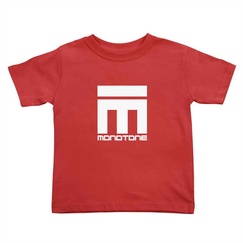 Monotone Logo White Kids Toddler T-Shirt by Monotone Apparel