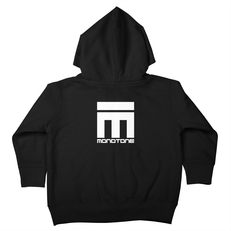 Monotone Logo White Kids Toddler Zip-Up Hoody by Monotone Apparel