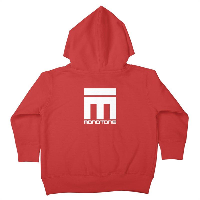 Monotone Logo White Kids Toddler Zip-Up Hoody by Monotone Apparel
