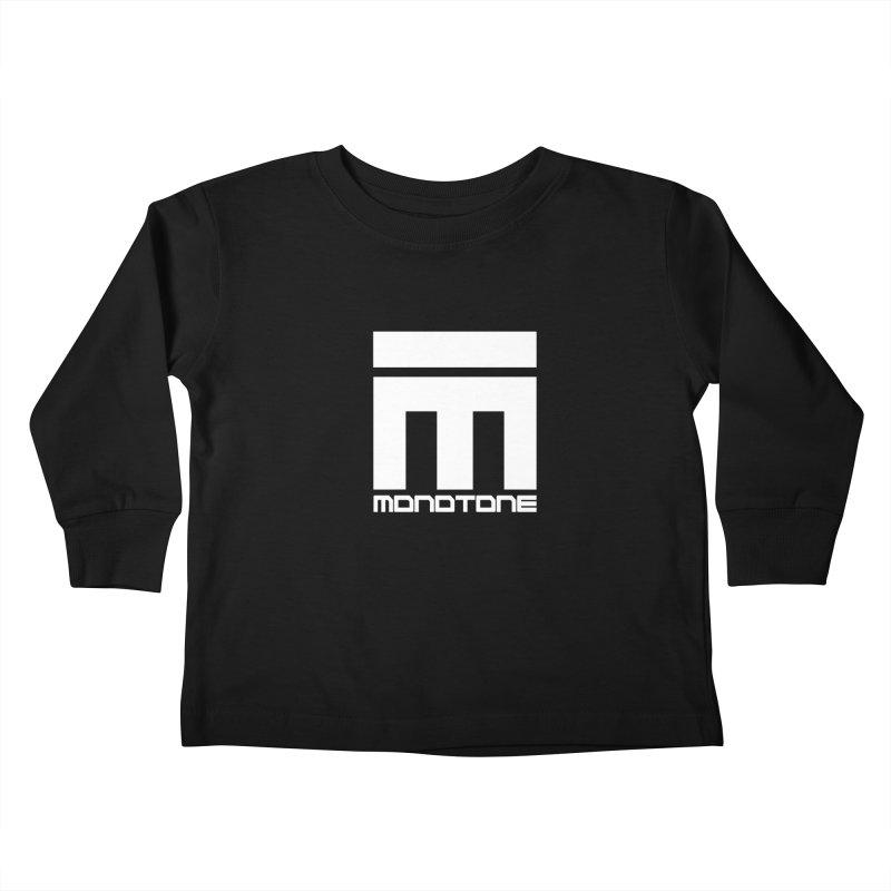 Monotone Logo White Kids Toddler Longsleeve T-Shirt by Monotone Apparel