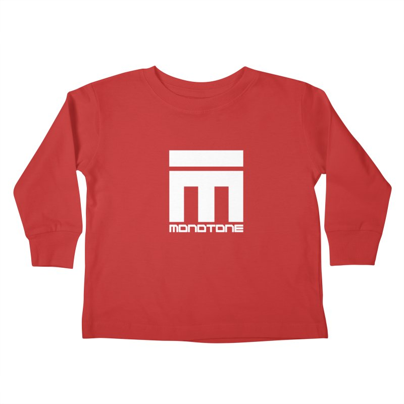 Monotone Logo White Kids Toddler Longsleeve T-Shirt by Monotone Apparel