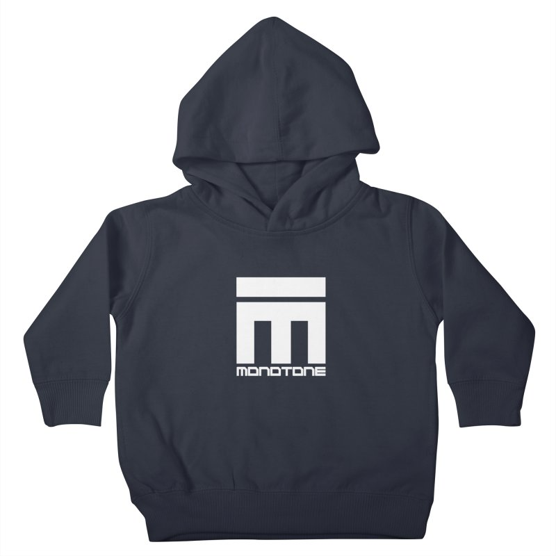 Monotone Logo White Kids Toddler Pullover Hoody by Monotone Apparel