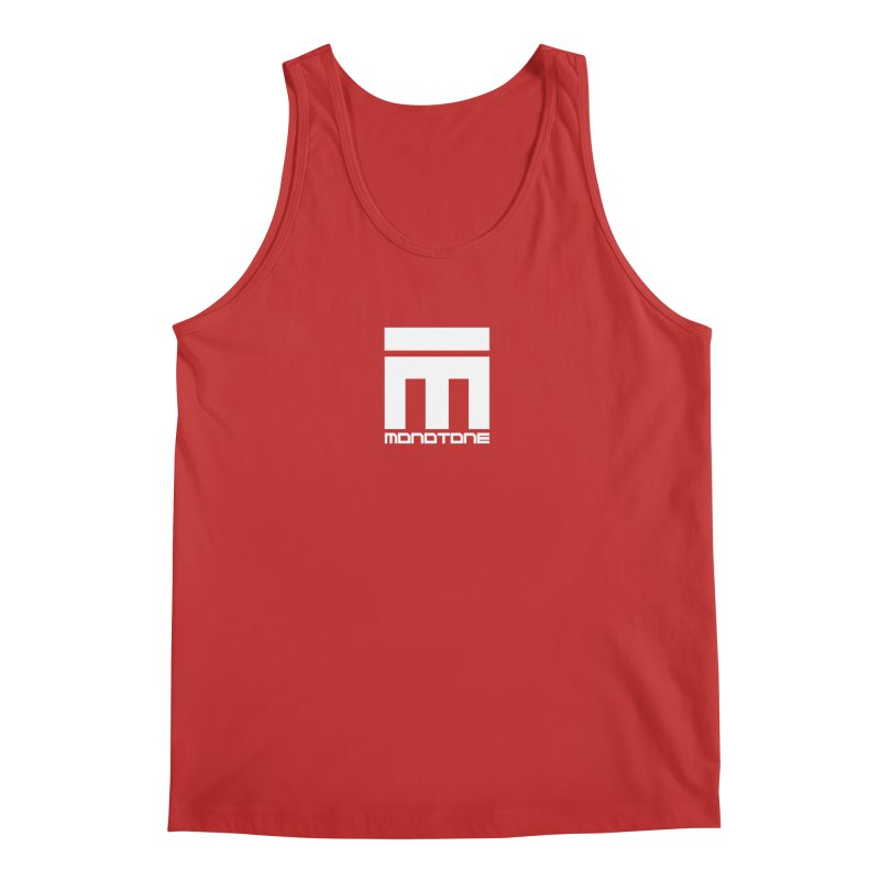 Monotone Logo White Men's Tank by Monotone Apparel