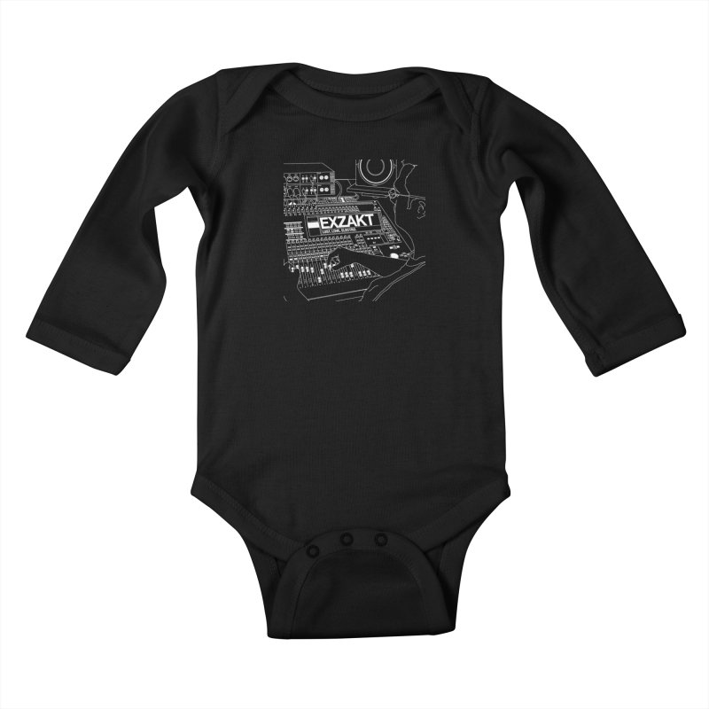 Lust Love Electro Kids Baby Longsleeve Bodysuit by Monotone Apparel