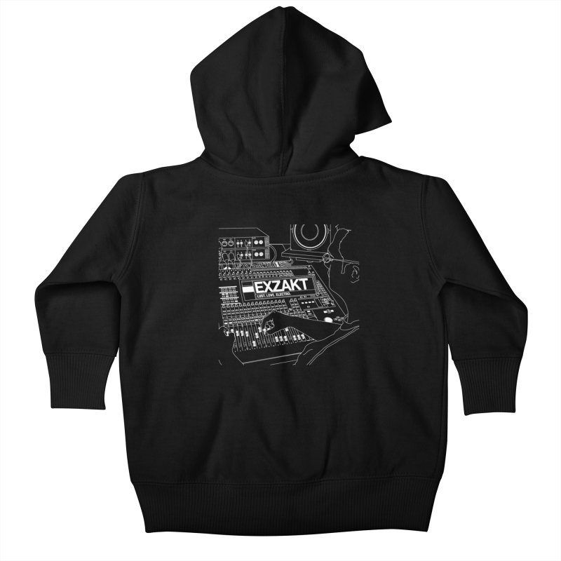 Lust Love Electro Kids Baby Zip-Up Hoody by Monotone Apparel