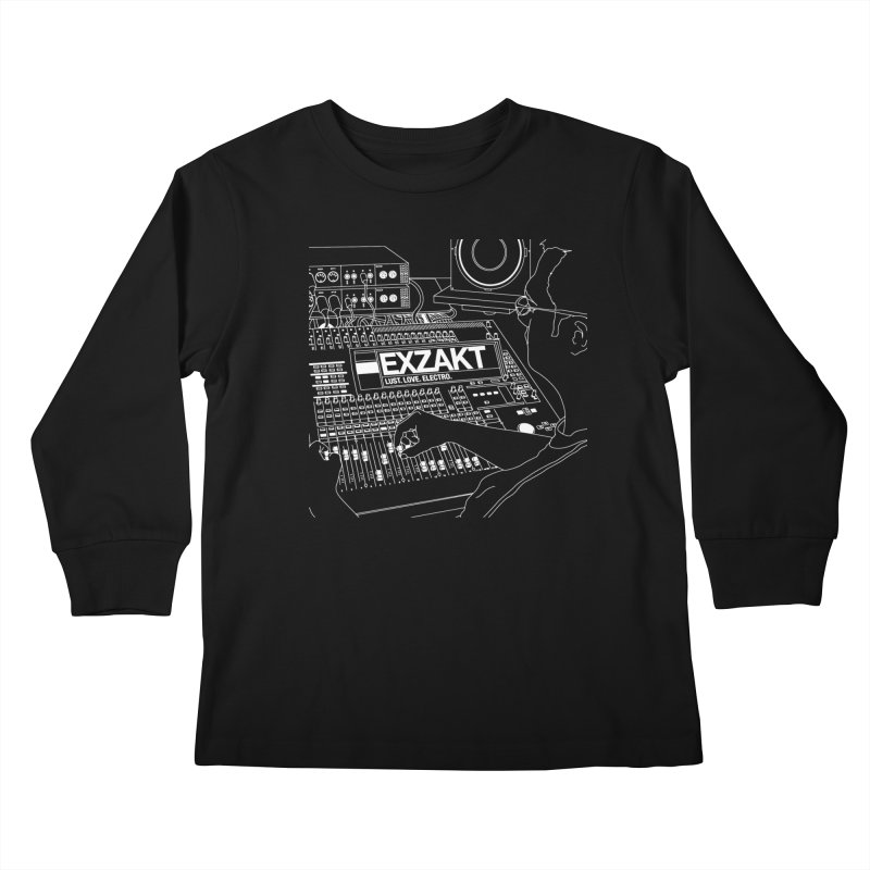 Lust Love Electro Kids Longsleeve T-Shirt by Monotone Apparel