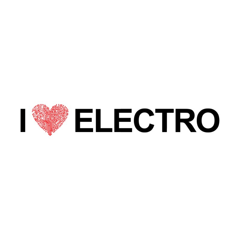 I Love Electro Women's Longsleeve Scoopneck  by Monotone Apparel