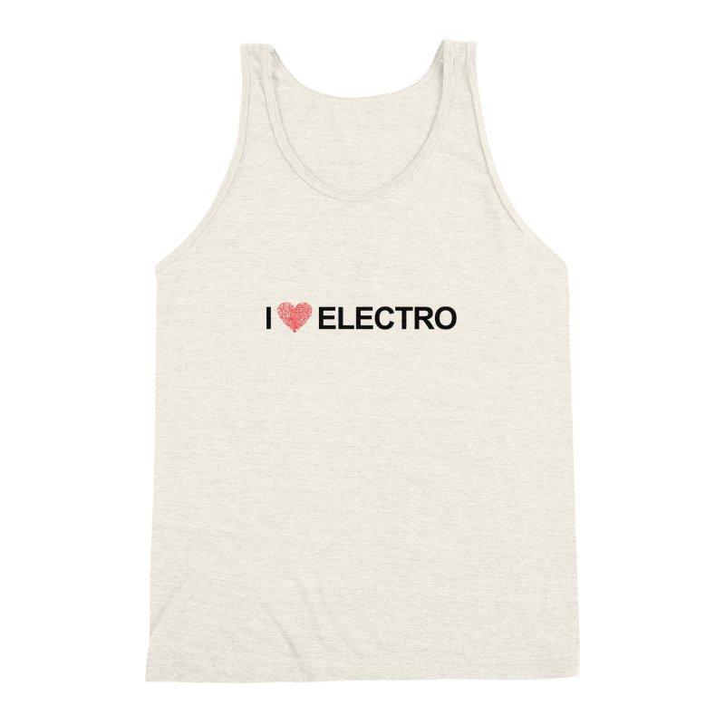 I Love Electro Men's Triblend Tank by Monotone Apparel