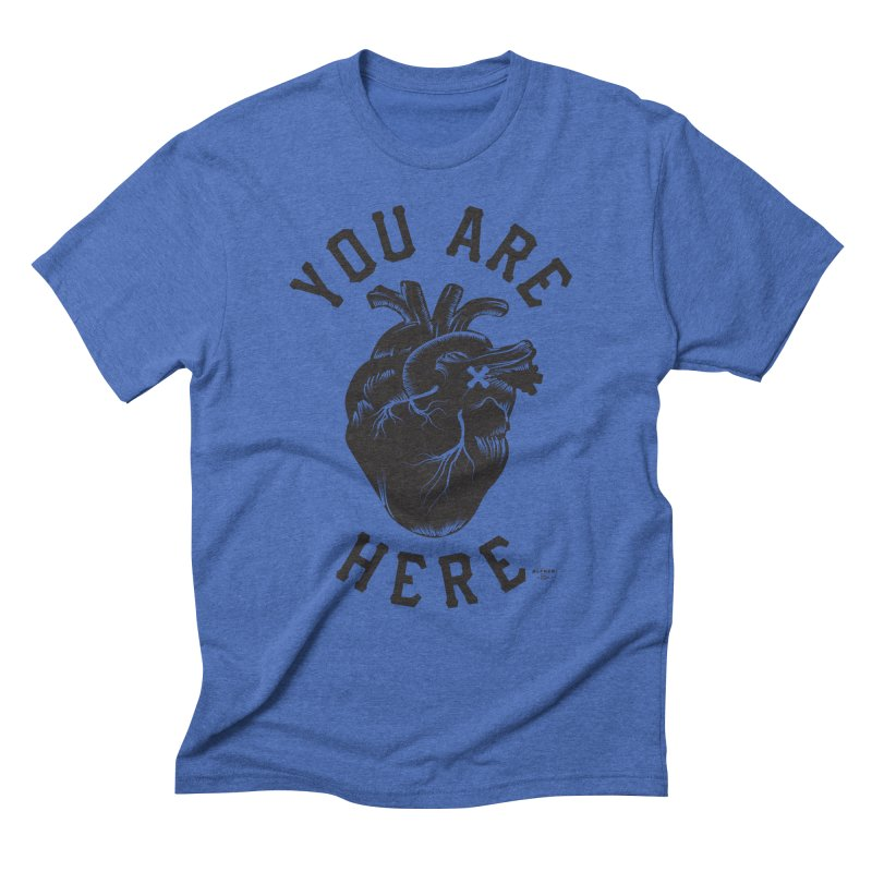 You are here Men's T-Shirt by MonsieurAlfred's Artist Shop