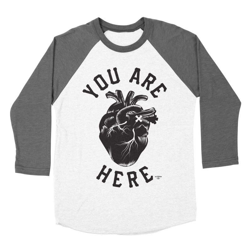 You are here Men's Baseball Triblend Longsleeve T-Shirt by MonsieurAlfred's Artist Shop