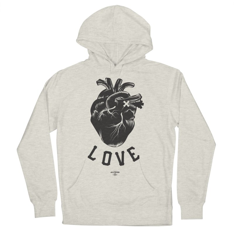 You are here - Love - Women's French Terry Pullover Hoody by MonsieurAlfred's Artist Shop