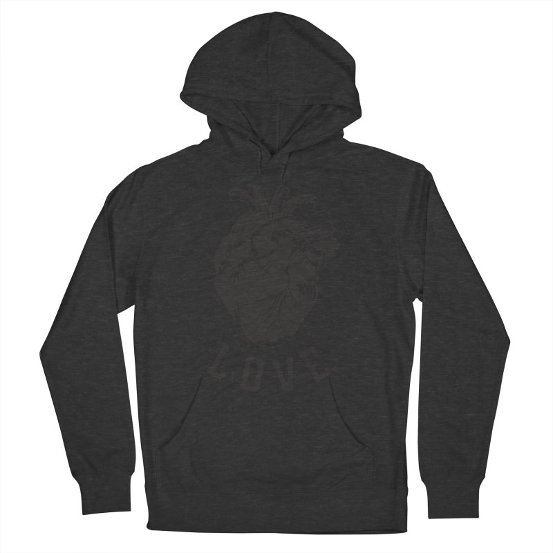 You are here - Love - Men's French Terry Pullover Hoody by MonsieurAlfred's Artist Shop