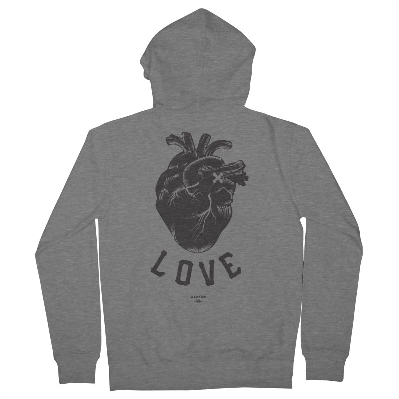 You are here - Love - Women's Zip-Up Hoody by MonsieurAlfred's Artist Shop