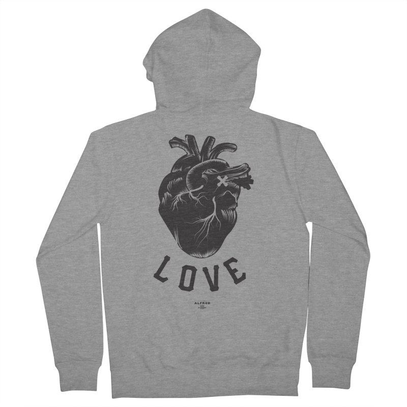 You are here - Love - Women's French Terry Zip-Up Hoody by MonsieurAlfred's Artist Shop