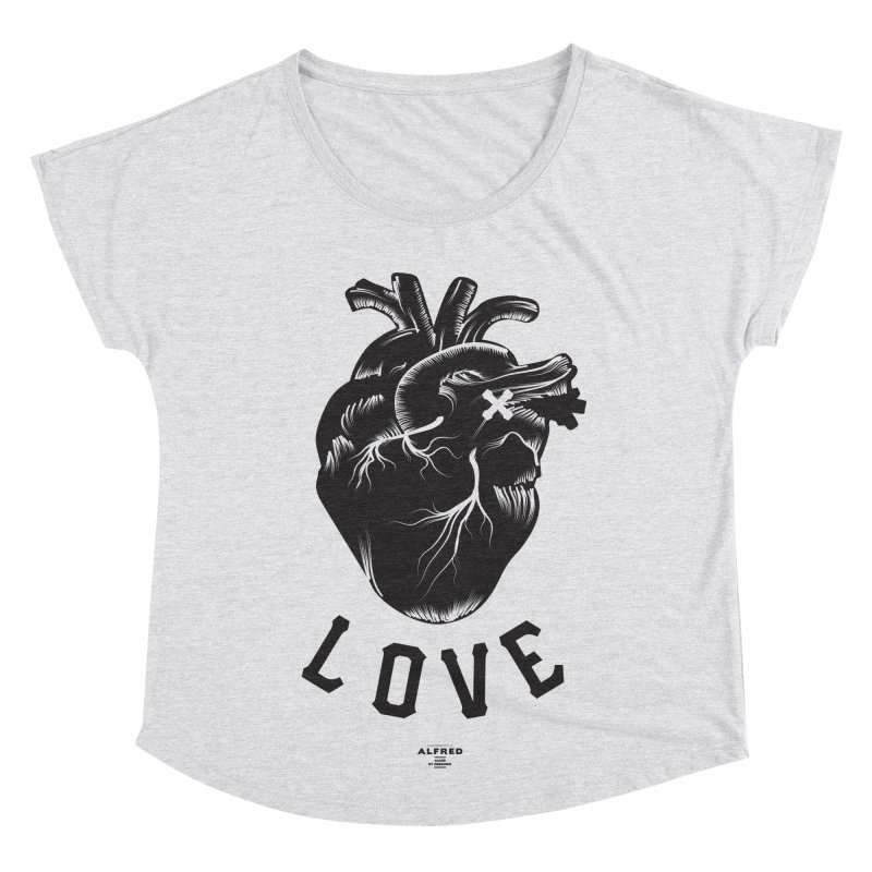 You are here - Love - Women's Scoop Neck by MonsieurAlfred's Artist Shop