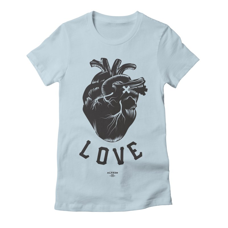You are here - Love - Women's T-Shirt by MonsieurAlfred's Artist Shop