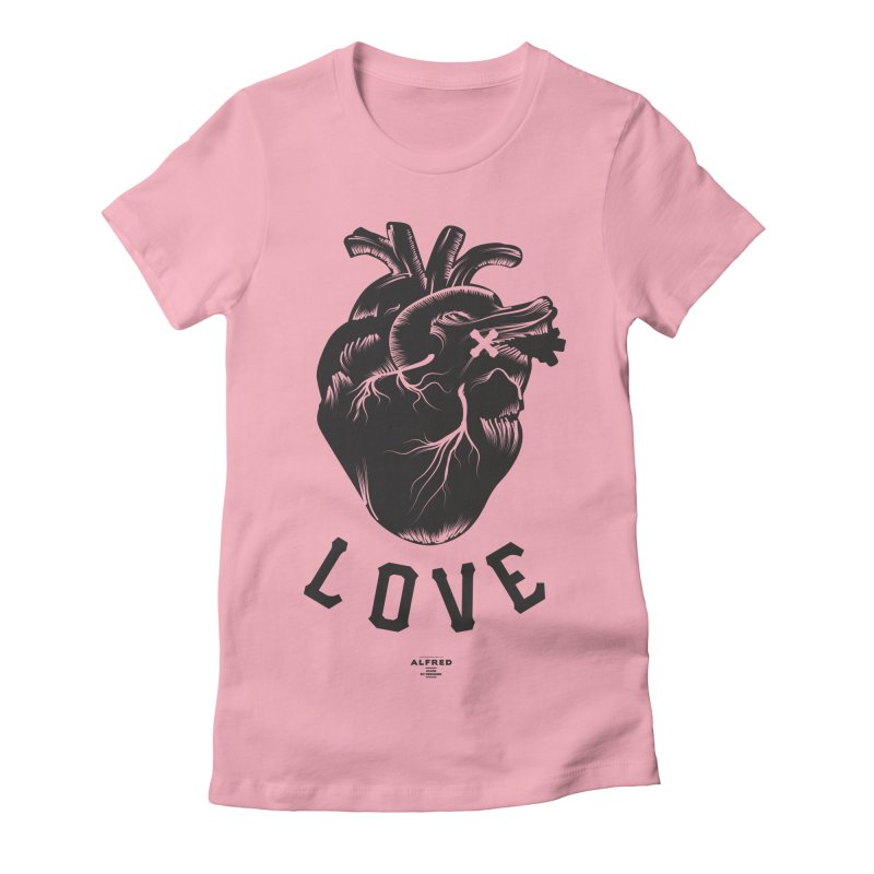 You are here - Love - Women's Fitted T-Shirt by MonsieurAlfred's Artist Shop