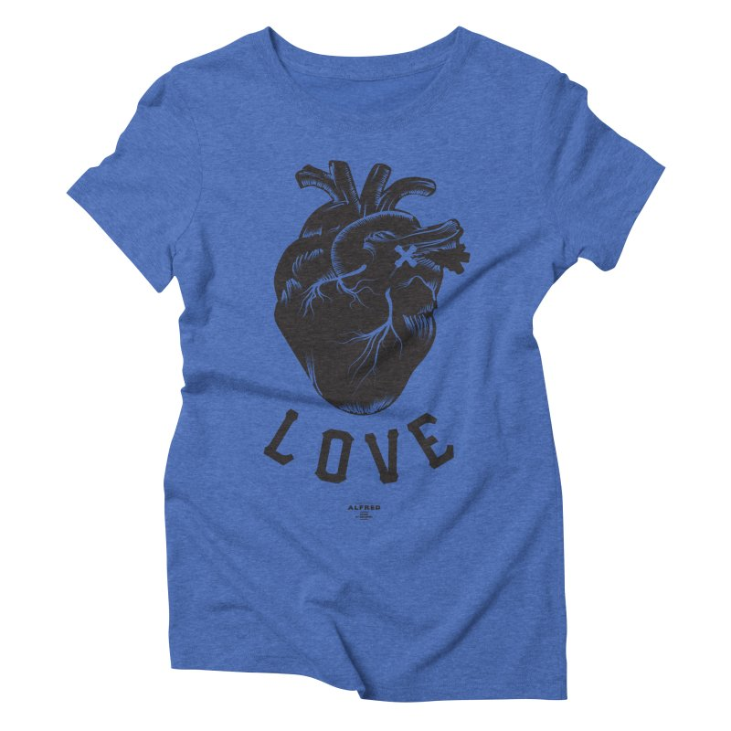 You are here - Love - Women's Triblend T-Shirt by MonsieurAlfred's Artist Shop