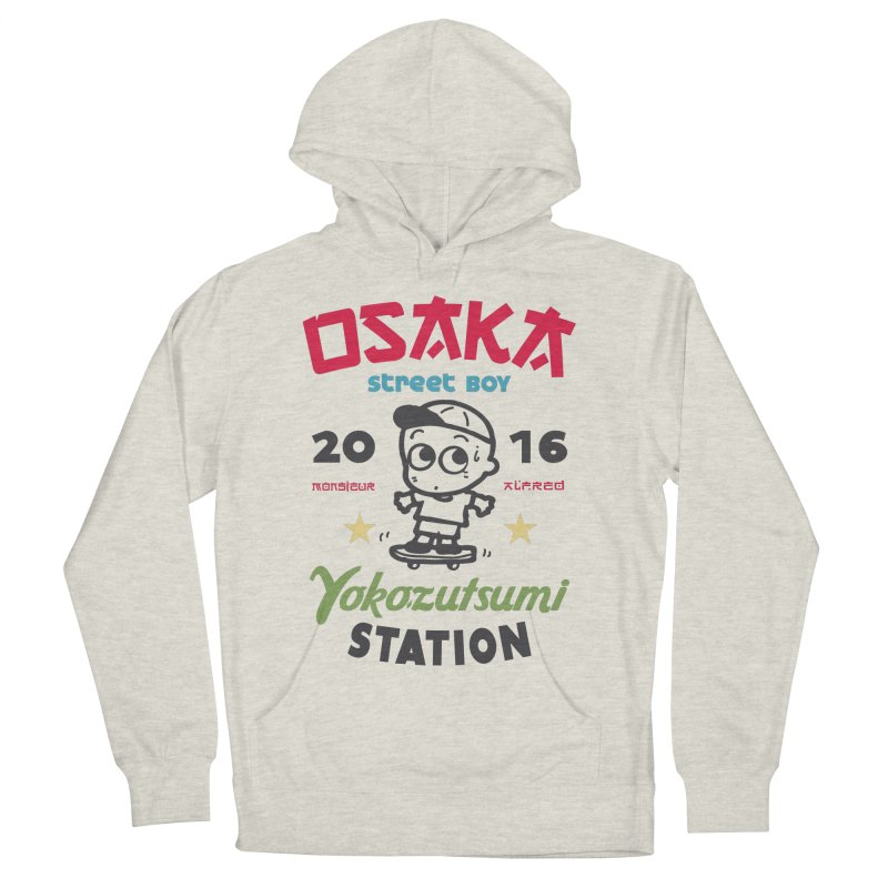 Osaka Men's French Terry Pullover Hoody by MonsieurAlfred's Artist Shop