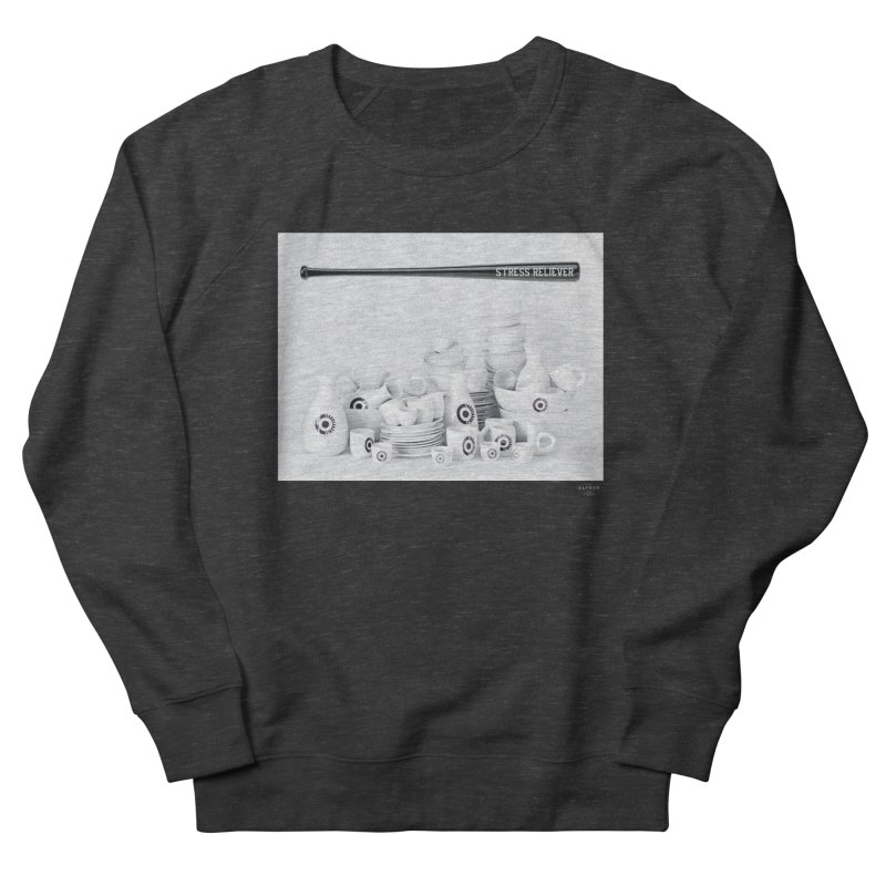 Stress Reliever Men's French Terry Sweatshirt by MonsieurAlfred's Artist Shop