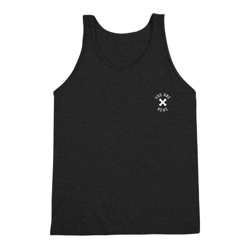 You are here - chest white - Men's Triblend Tank by MonsieurAlfred's Artist Shop