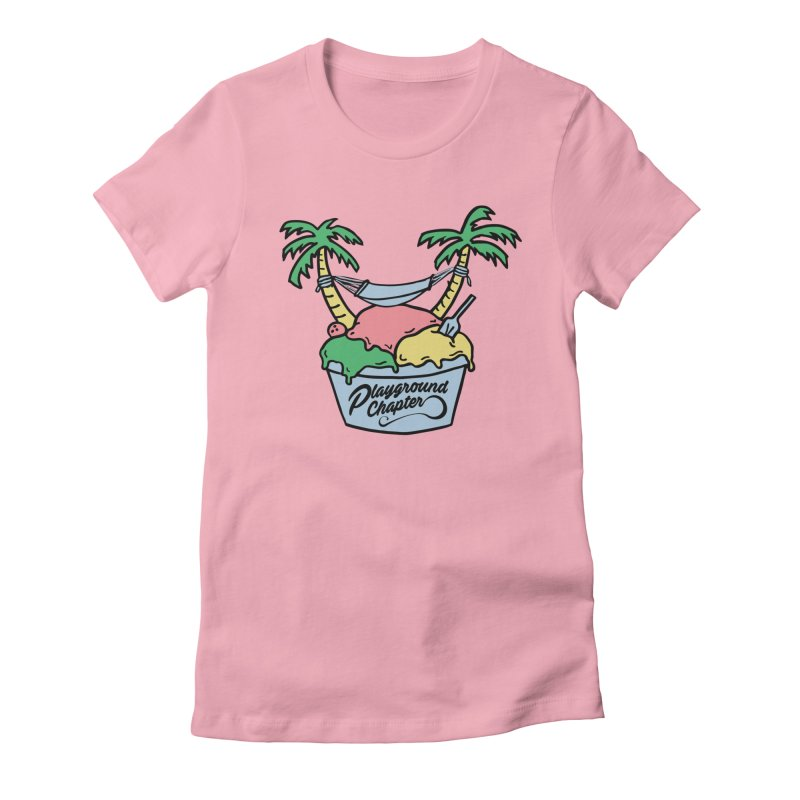 Island cup Women's Fitted T-Shirt by MonsieurAlfred's Artist Shop