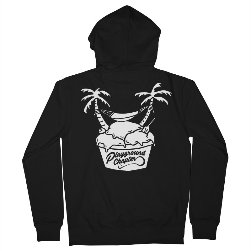 Island cup - white - Men's French Terry Zip-Up Hoody by MonsieurAlfred's Artist Shop