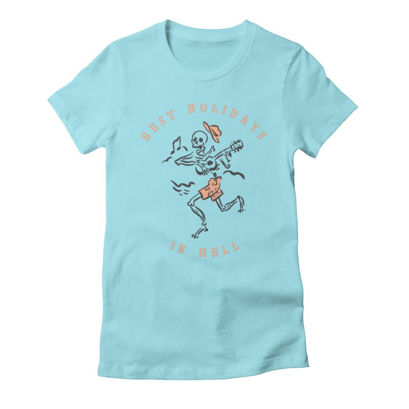Best Holidays - bicolor Women's Fitted T-Shirt by MonsieurAlfred's Artist Shop