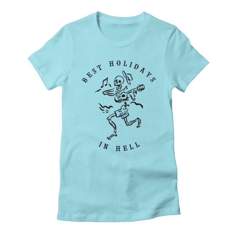 Best Holidays Women's Fitted T-Shirt by MonsieurAlfred's Artist Shop