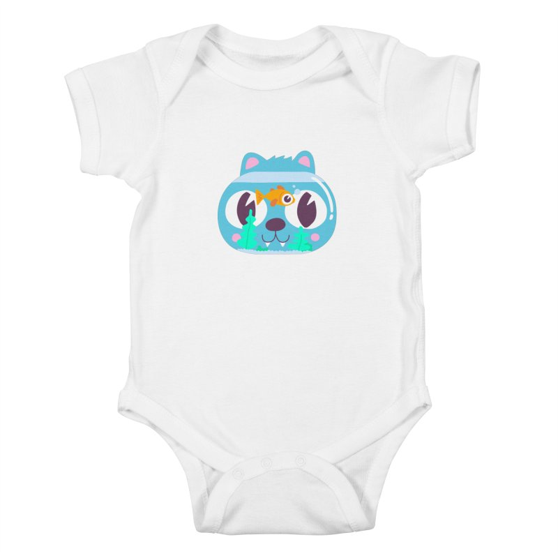 Cat & Fish Kids Baby Bodysuit by La Boutique de Monsieur Dupont