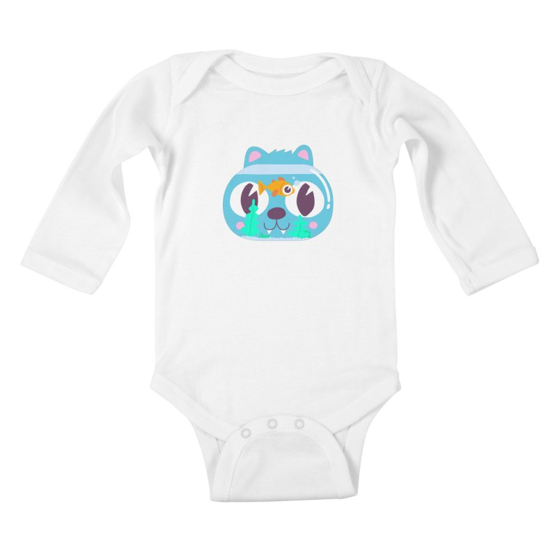 Cat & Fish Kids Baby Longsleeve Bodysuit by La Boutique de Monsieur Dupont