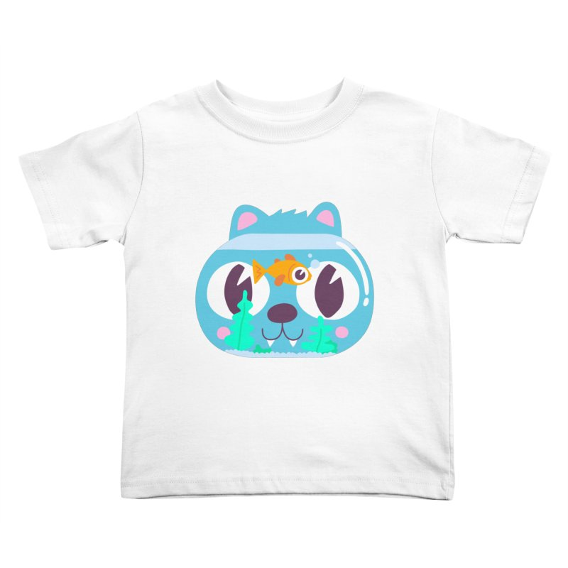 Cat & Fish Kids Toddler T-Shirt by La Boutique de Monsieur Dupont