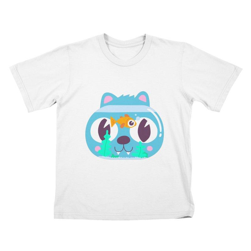 Cat & Fish Kids T-Shirt by La Boutique de Monsieur Dupont