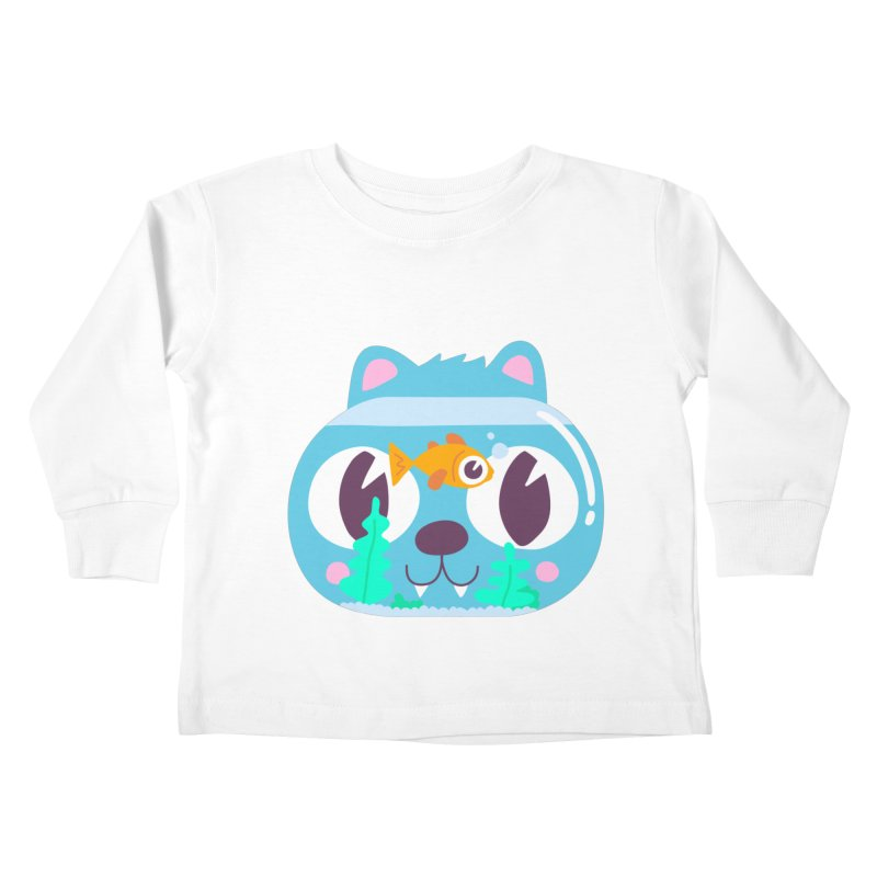 Cat & Fish Kids Toddler Longsleeve T-Shirt by La Boutique de Monsieur Dupont